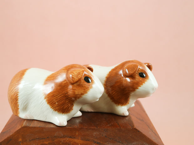 Dutch ginger guinea pig salt and pepper shakers