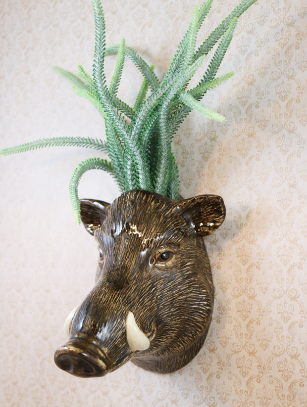 Big wild boar wallvase