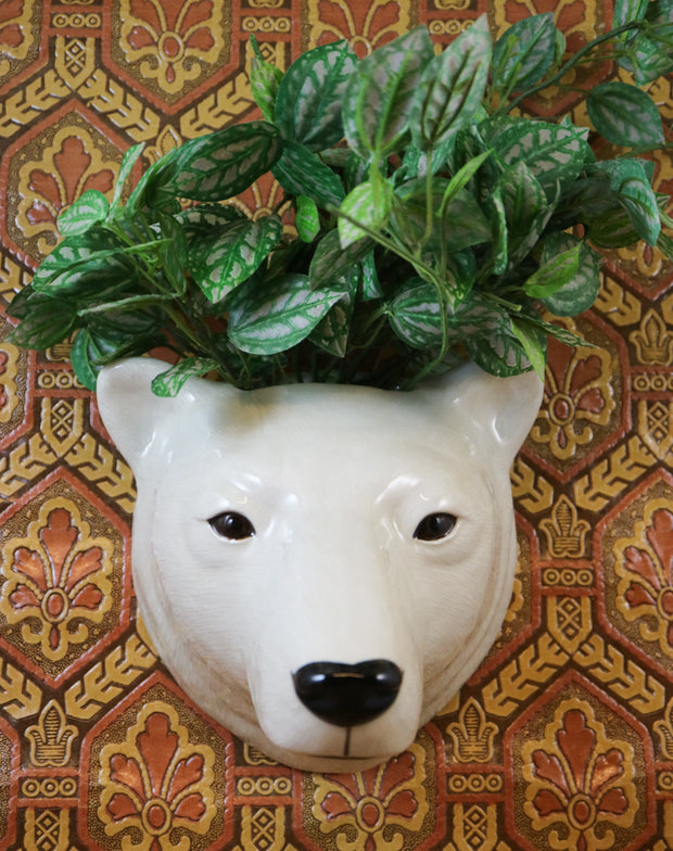 Big polar bear wallvase