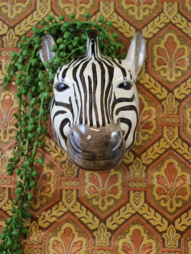 Big zebra wallvase