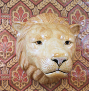 Big lion wallvase