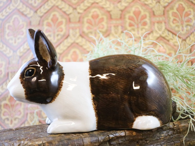 Brown & white rabbit money bank