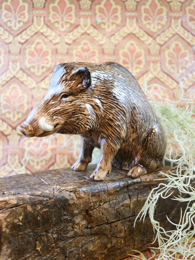 Wild boar money bank