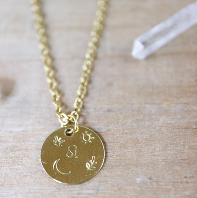 Pre-order! Leo zodiak necklace