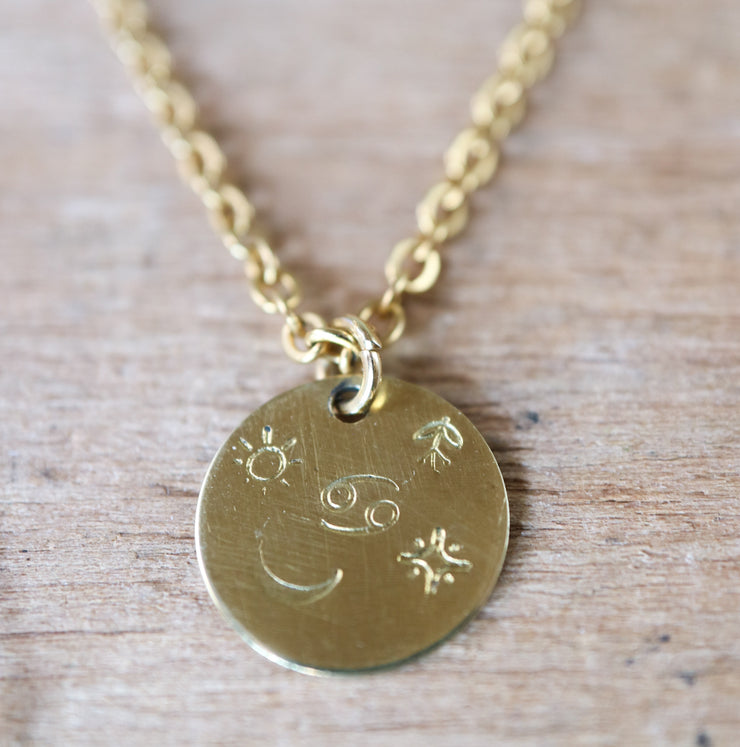 Cancer zodiak necklace