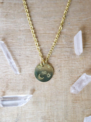 Aquarius zodiak necklace