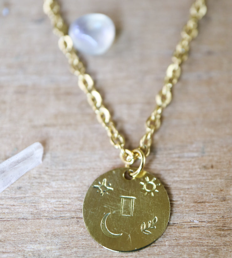 Gemini zodiak necklace