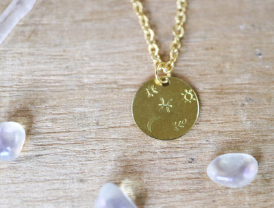Pisces zodiak necklace