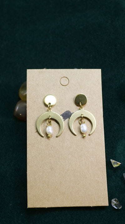 Pearl moon earrings limited edition