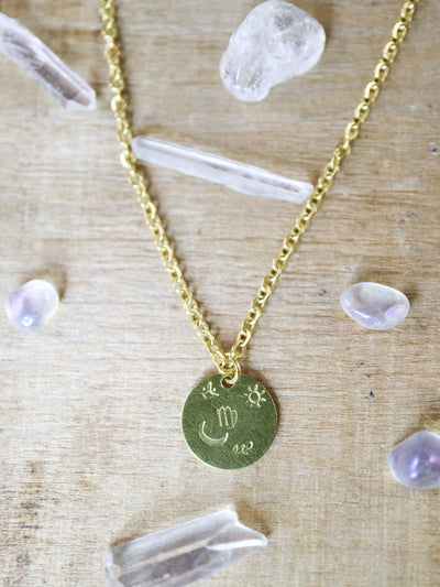 Virgo zodiak necklace
