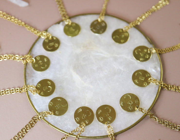 Leo zodiak necklace