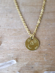 Libra zodiak necklace