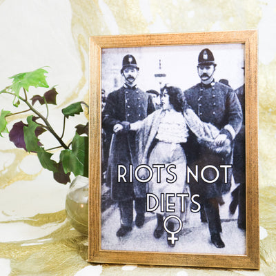 A5 mini print Riots not diets
