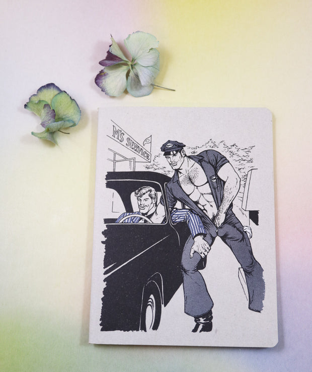 Tom of Finland mini notebook cruisin