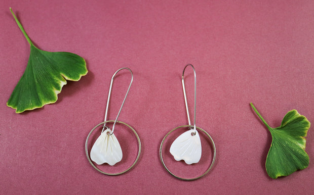 Silver pearl petal earrings (Limited edition)