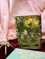 Frog symphony! Super luxurious victorian 3-D postcard with envelope