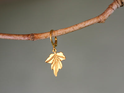 Leaf mix & match earring