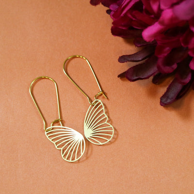 Butterfly flutter earrings
