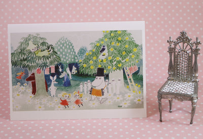 Moomin garden greeting card