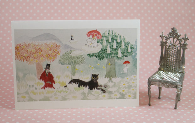 The magician's hat moomin greeting card