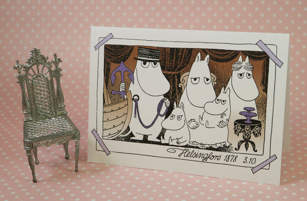 Moomin family portrait greeting card