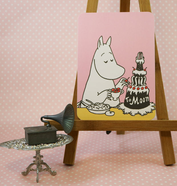 Moomin birthday cake postcard