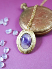 Amethyst locket necklace (Limited edition)