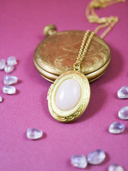 Rose quartz locket necklace (Limited edition)