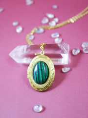 Malachite locket necklace (Limited edition)