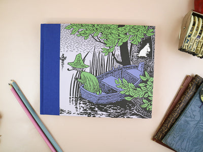 Moomin hard cover notebook -Gone fishing