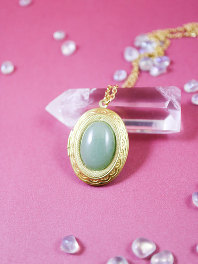 Aventurine locket necklace (Limited edition)