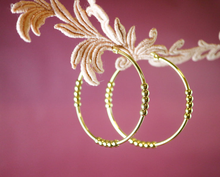 Large dotty creole hoop earrings