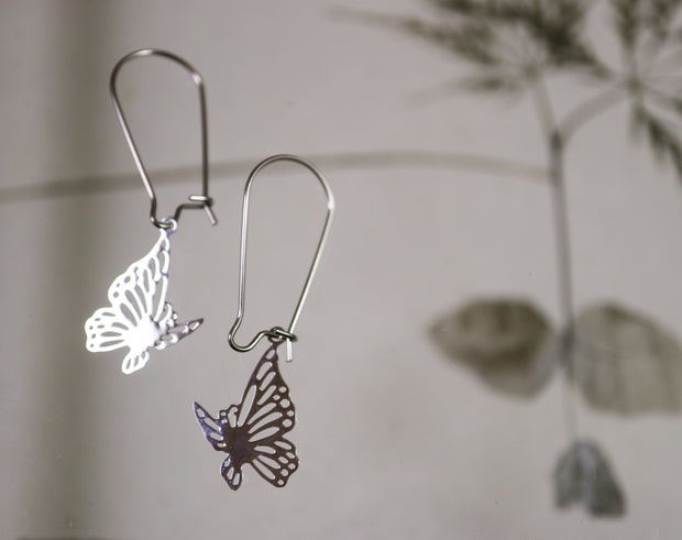 Long butterfly earrings
