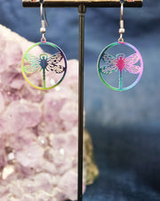 Titanium dragonfly earrings