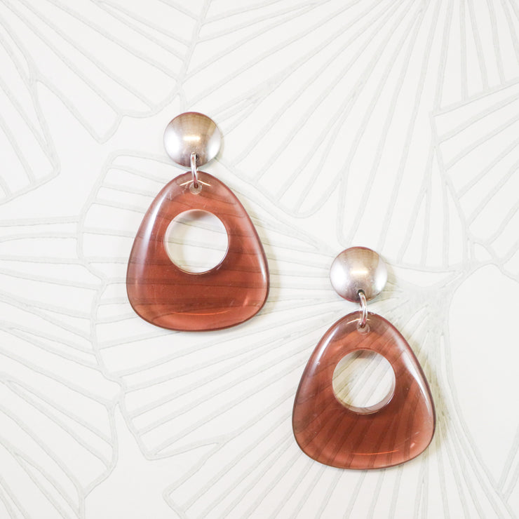 Rosy mod earrings