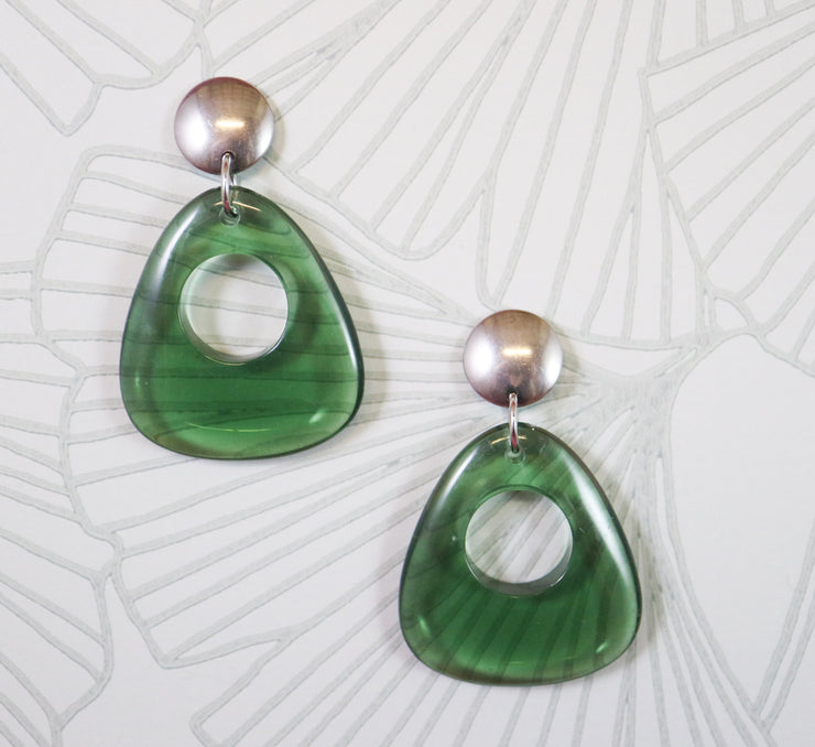 Grassy mod earrings