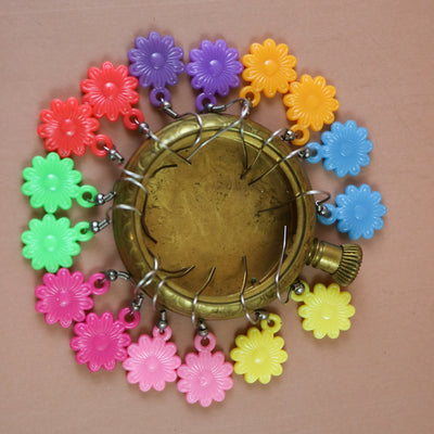Candy colored blossom earrings