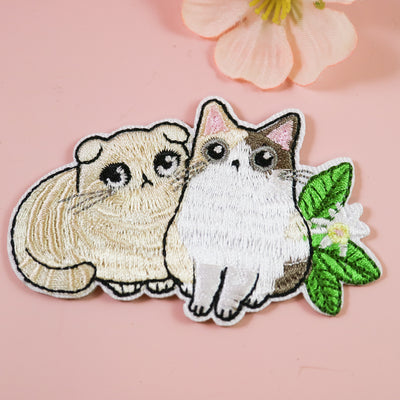 Cutie cats iron on patch