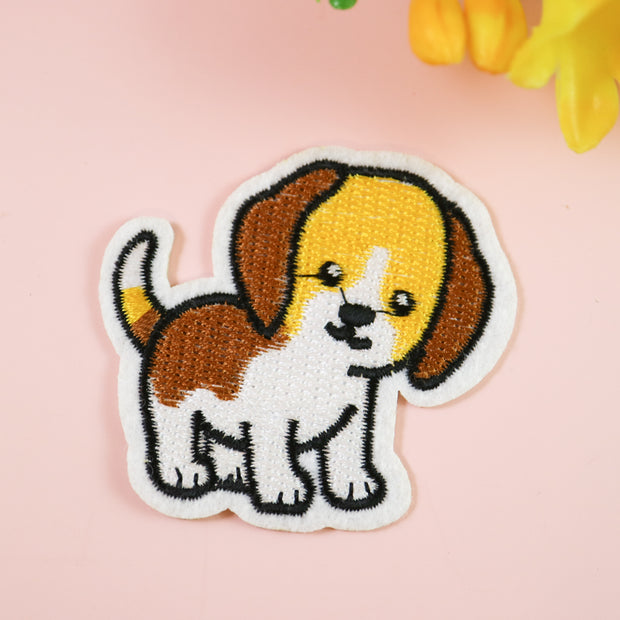 Puppy iron on patch