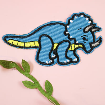 Triceratops iron on patch