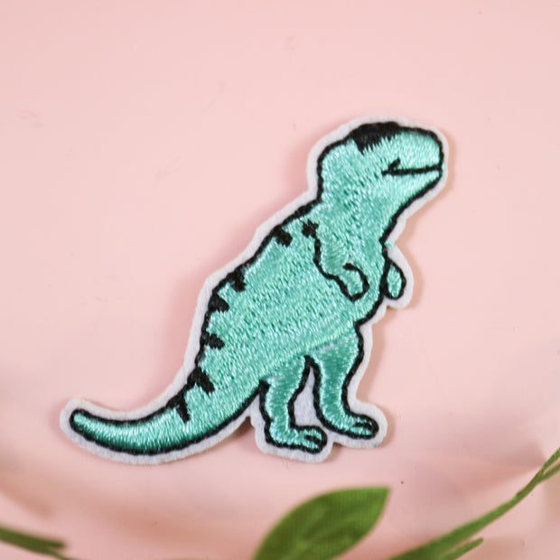Happy T-Rex iron on patch