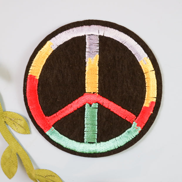 Peace iron on patch