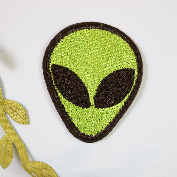 Alien iron on patch
