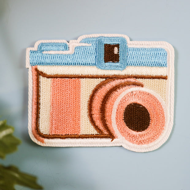 Camera iron on patch