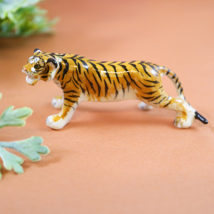 Miniature majestic tiger figurine