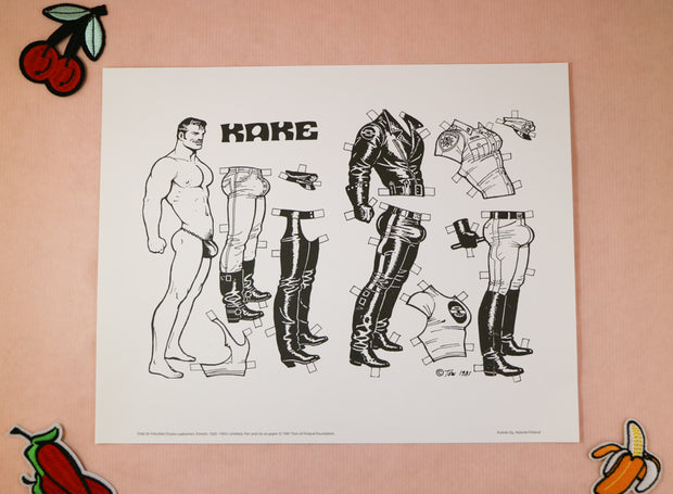 Tom of Finland art print Kake paperdoll