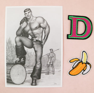 Tom of Finland mini print/card lumberjack
