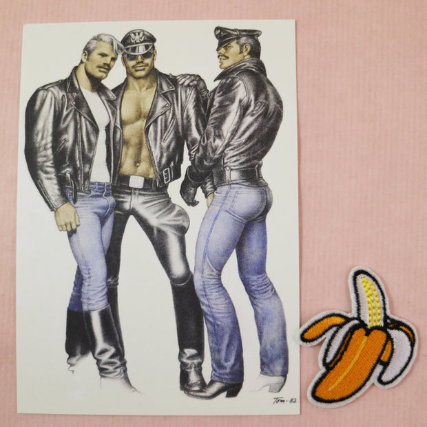 Tom of Finland postcard threesome