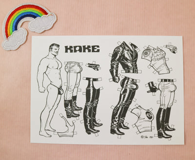 Tom of Finland postcard Kake