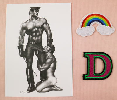 Tom of Finland postcard adoration